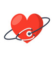 heart care icon vector image