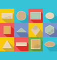 postage stamp icons set flat style vector image