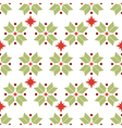 seamless pattern of geometric snowflakes vector image