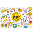 sugar paradise - sweet collection vector image