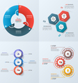 set of 4 infographic templates with 3 options vector image