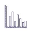 purple line contour of column chart vector image