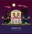 flat style modern icon design of romantic cafe vector image
