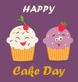holiday poster for international cake day vector image