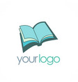 Open book knowledge logo vector image