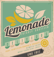 Retro poster design for ice cold lemonade vector image vector image