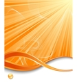 orange vertical ray background vector image vector image