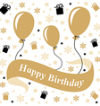birthday gold vector image vector image