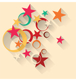 star circles background vector image