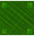 Abstract background with four-leaf clovers vector image