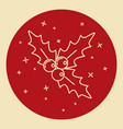 christmas mistletoe icon in thin line style vector image