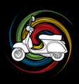 classic scooter side view graphic vector image