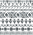 Ethnic watercolor seamless pattern vector image