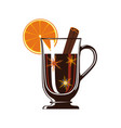 mulled wine with spices isolated icon vector image