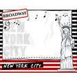 paper template with new york city background vector image