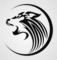 Tribal Howling Wolf vector image