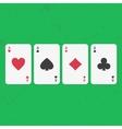 Ace poker cards set vector image