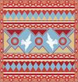 spring birds ornamental print vector image vector image