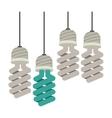 colorful hanging modern light bulb vector image