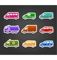 Set of sticky stickers transport color signs vector image