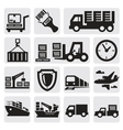 Logistic and shipping icon set vector image vector image