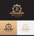 Logo template of luxury boutique brand vector image