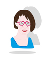pretty girl with heart glasses vector image