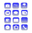 Phone Icons blue vector image