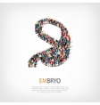 embryo people sign 3d vector image