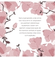 Floral card invitation vector image