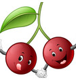 cute cherry with face vector image