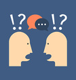 Discussion chat concept Flat design Isolated on vector image