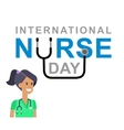 for International Nurse Day vector image