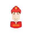 object fireman avatar vector image
