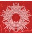 Ornamental mandala drawn in thin lines vector image