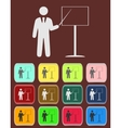 people - man person with a pointer and board vector image