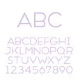 font grotesque inline thin vector image vector image