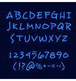 Hand Lettering Neon Style Blackboard Poster vector image