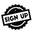 sign up rubber stamp vector image