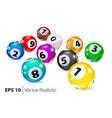 colorful bingo balls lie in random order vector image