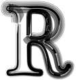 abstract font letter R vector image vector image