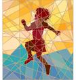 Happy girl mosaic vector image