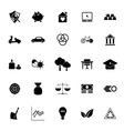 Sufficient economy icons on white background vector image