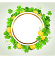 St Patricks Day banner with green clover vector image vector image