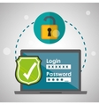 Security system design warning icon protection vector image