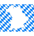 Map and flag of Bavaria vector image vector image