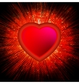 Abstract Heart Burst Background EPS 8 vector image