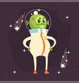 angry fat alien posing with arms akimbo vector image