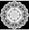black and white ottoman serial patterns twenty vector image