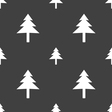 Christmas tree icon sign Seamless pattern on a vector image